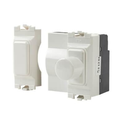 MK Logic Plus 400W 1 Gang 2 Module Grid Dimmer)