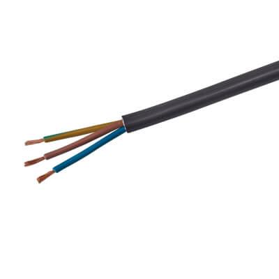 3183TQ 3 Core HOFR Heat Resistant Cable - 6mm² x 5m - Black)