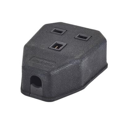MK Duraplug 13A 1 Gang Trailing Socket - Black)