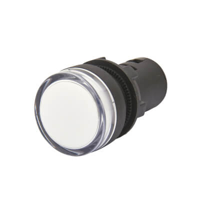 Lewden 22mm Pilot Light - White)