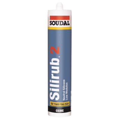 Soudal Silirub 2 Neutral Silicone - 300ml - Clear)