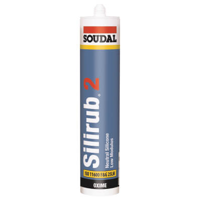 Soudal Silirub 2 Neutral Silicone - 300ml - Clear)