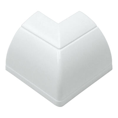 D-Line External Bend - 22 x 22mm - Clip-Over - White)