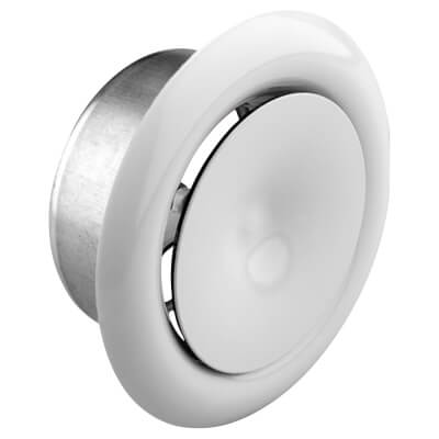 Verplas Sys125: Fire Rated Ceiling Supply Valve - Round)