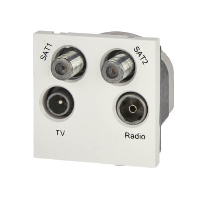 BG Quadruplex Module TV/FM/2 x Satellite - White)