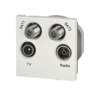 BG Quadruplex Module TV/FM/2 x Satellite - White