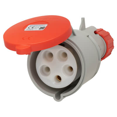 32A 4 Pin and Earth Trailing Socket - Red)
