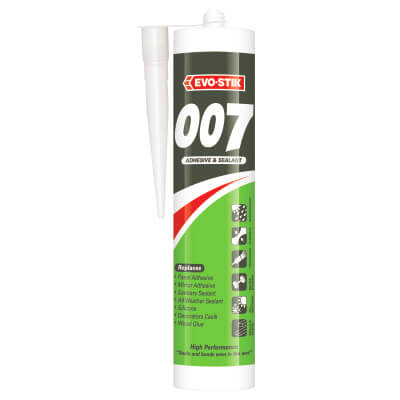 Evo-Stik 007 Adhesive & Sealant - 290ml - White)
