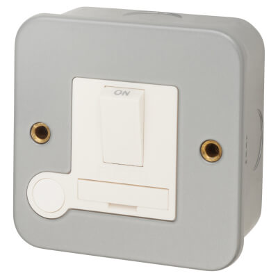 13A Metal Clad Switched Spur - Grey