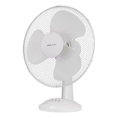 16 Inch Desk Fan - White)