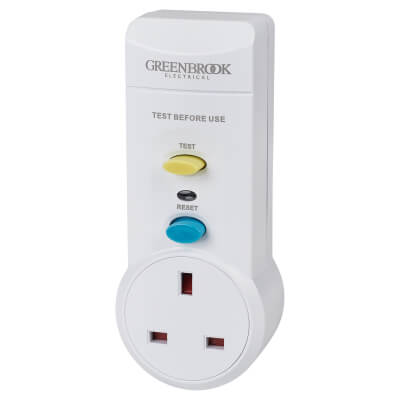 13A 30mA Powerbreaker RCD Adaptor - White