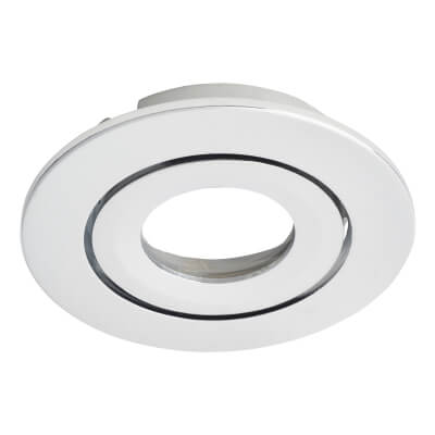 Daxlite Round Bezel for Daxlite Tilt Downlight - Polished Chrome)