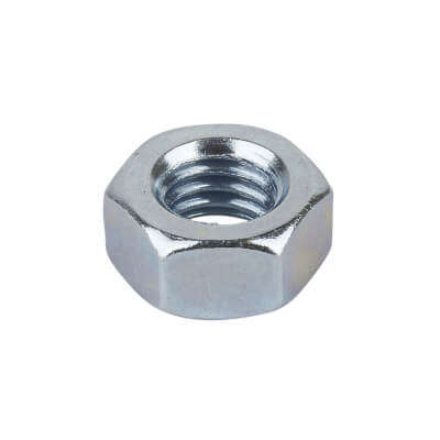 M8 Nut- Bright Zinc Plated - Pack 100)