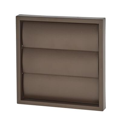 Manrose 4 Inch Wall Gravity Grill - Brown)