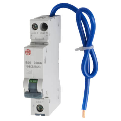 Wylex 20A 30mA Single Pole RCBO - Type B)
