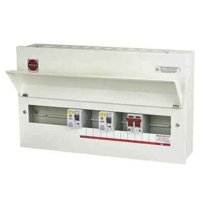 Wylex 15 Way 100A Dual Split Load High Integrity Metal Consumer Unit - Amendment 3)