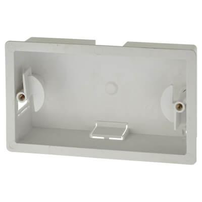 Marshall Tufflex 2 Gang Dry Line Box - 32mm - White)