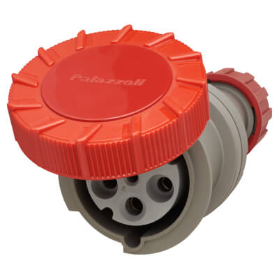 63A 3 Pin, Neutral and Earth Trailing Socket - Red