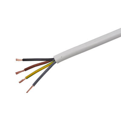 3184Y 4 Core Round Flex Cable - 2.5mm² x 50m - White)