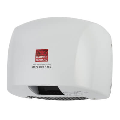 Warner Howard 1.8kW Hand Dryer - White)