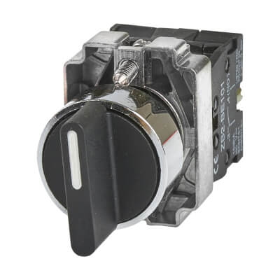 Lewden 10A 22mm 2 Positional Selector Switch + 2 N/O)