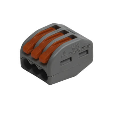 Wago 3W Lever Connector - Pack 10