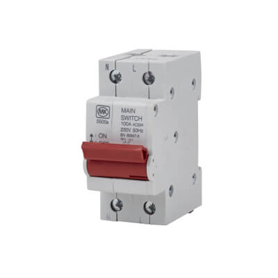 MK 100A Double Pole Main Switch)