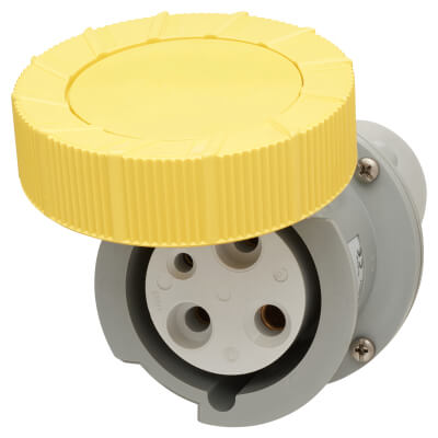 63A 3 Pin Trailing Socket - Yellow