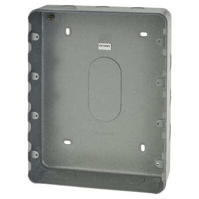 MK 24 Gang Grid Switch Surface Back Box - 38mm)
