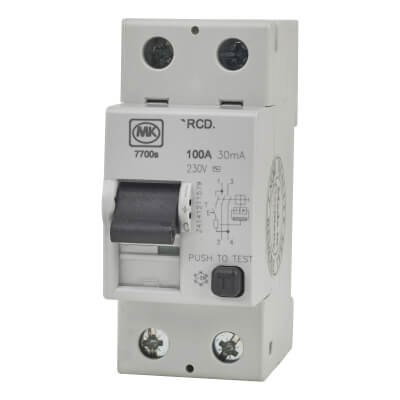 MK 100A 30mA 2 Module RCD