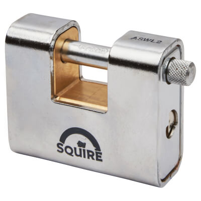 Squire Armoured Steel Shutter Lock - 80mm - Keyed Alike)