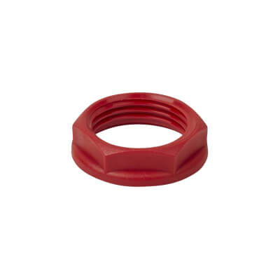 Injection Moulders PVC Locknut - Red - 20mm - Pack 10)