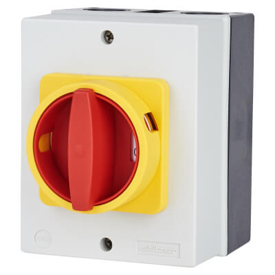 25A 4 Pole Rotary Isolator Waterproof - IP65)