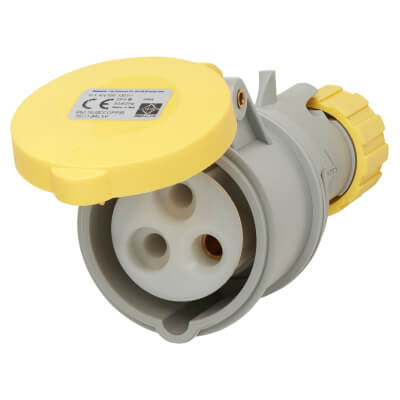 16A 2 Pin and Earth Trailing Socket - Yellow