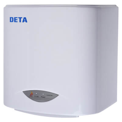 Airvent 1.1kW Compact Eco Hand Dryer - White)