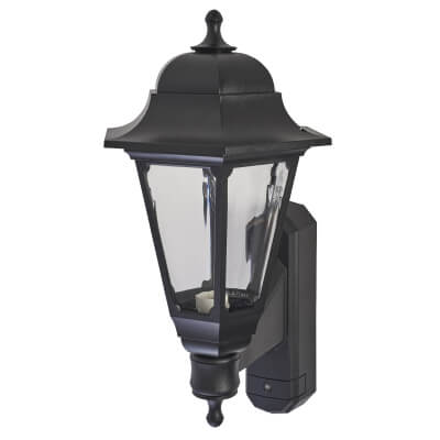 ASD Lighting Coach Lantern with Photocell - Black)
