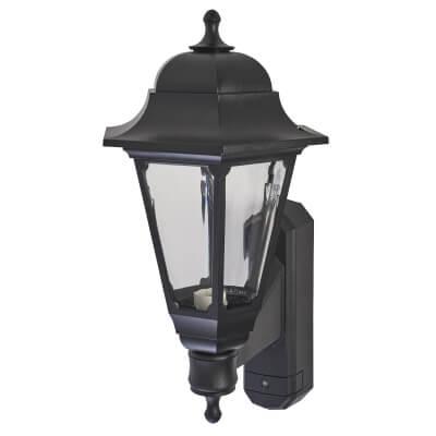 ASD Lighting Coach Lantern with Photocell - Black)