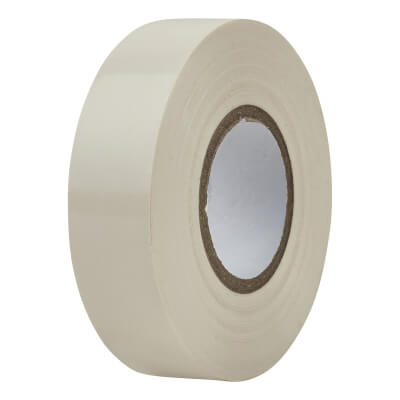 Directa 19mm Roll PVC Tape - 20m - White)