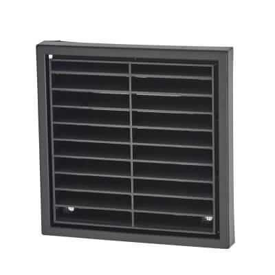 Manrose 4 Inch Wall Grill Fixed Shutter - Black)