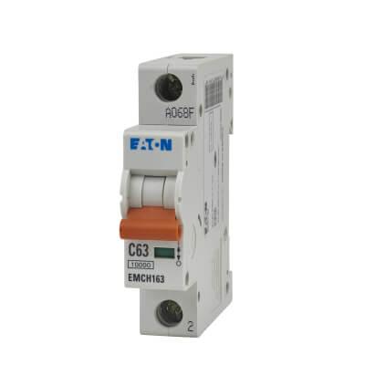Eaton MEM 63A Single Pole 3 Phase MCB - Type C