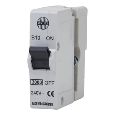 Wylex 10A Plug In MCB - Type B)