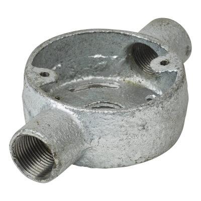 Steel Conduit Skeleton Through Box - 20mm - Galvanised