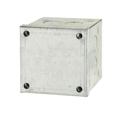 Adaptable Back Box - 3 x 3 x 3 Inch - Galvanised)