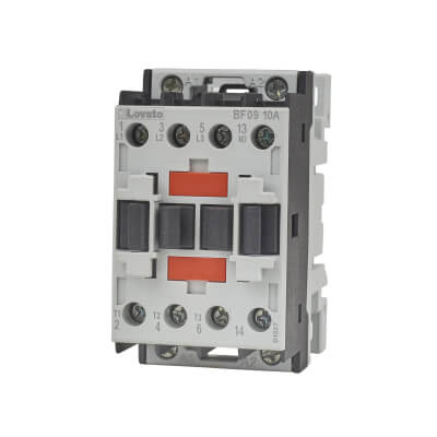 Lovato 9A 415V Three Pole Contactor)