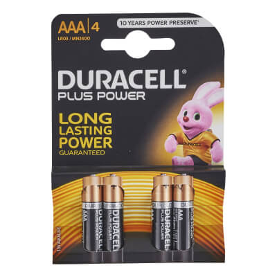 Duracell Batteries - AAA Type - Pack 4)