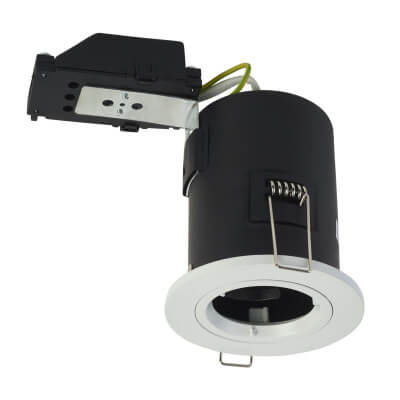 KSR Lighting Fixed Fire Rated Downlight - IP20 - White)