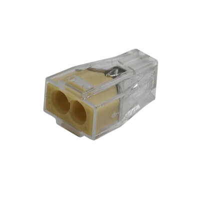 Wago 2W Push Wire Connector - Yellow - Pack 10)