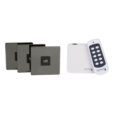 Energenie MiHome Switch Bundle - Black Nickel)