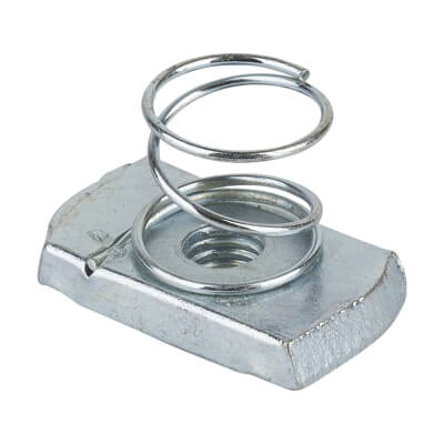 Slotted Channel Spring Nut - Short - M8 - Pack 10)
