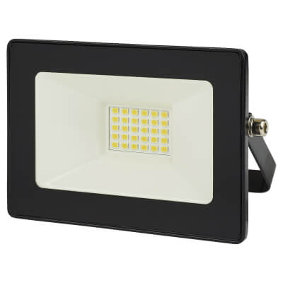 10W 6000K LED Square Floodlight - Black)